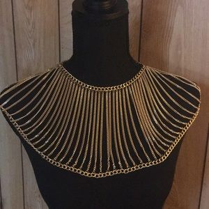Accessories - Beautiful gold collar necklace